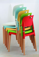 Silla apilable de color - Sillas apilables