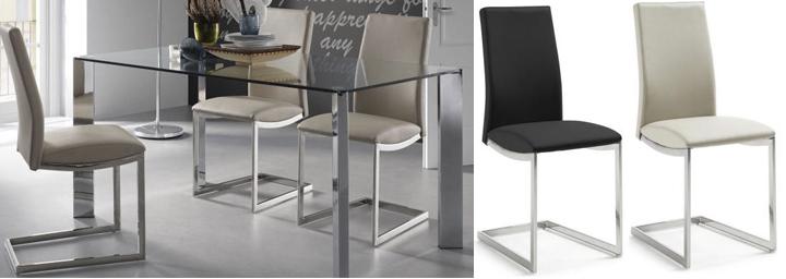 Sillas de metal dise o moderno para comedor salon cocina for Sillas modernas de metal para comedor