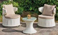 Set de sillones y mesa modelo RUBENS - Set de sillones, mesa y cojines modelo RUBENS