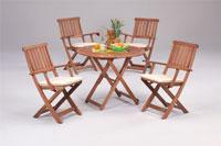 Set sillas y mesa madera modelo SIRIA - Set sillas y mesa madera modelo SIRIA