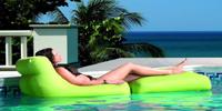 Puff sillón para exterior tipo tumbona modelo POOL convertible - Puff para exterior tipo tumbona modelo POOL convertible