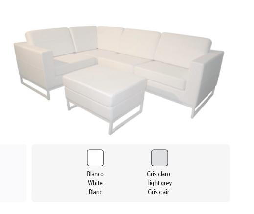 Sof esquinero blanco estilo ibiza for Sofa exterior blanco