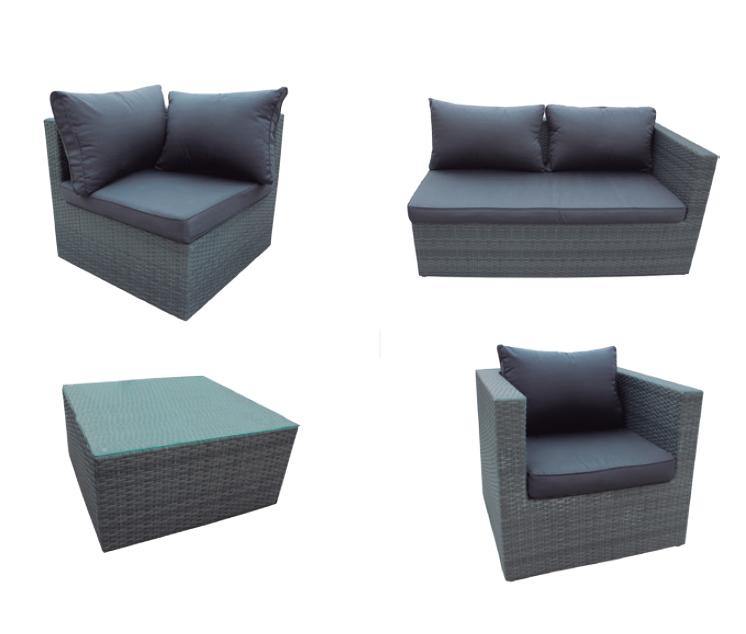 Sof esquinero gris en oferta gris for Sofa exterior esquina