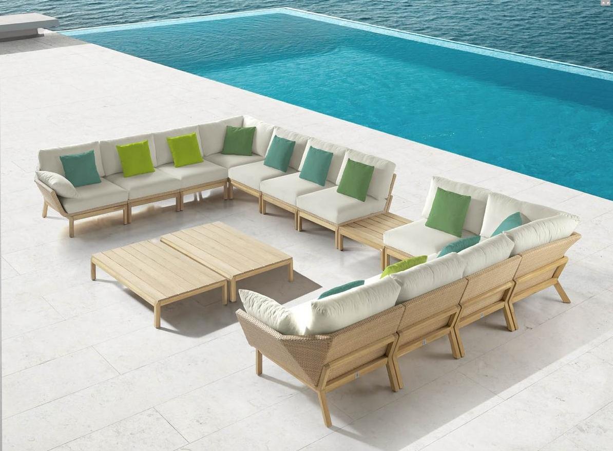 Sofa para exterior reggae mia home for Sofa exterior madera