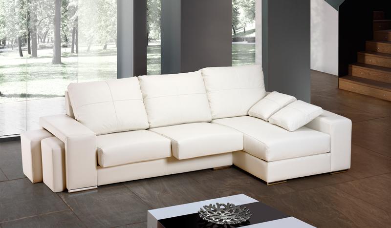 sof barcelona moderno 3 plazas con puff extraibles y