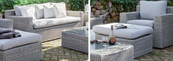 Muebles De Rattan Para Exterior : Sof� de ratt�n sint? tico exterior jardin