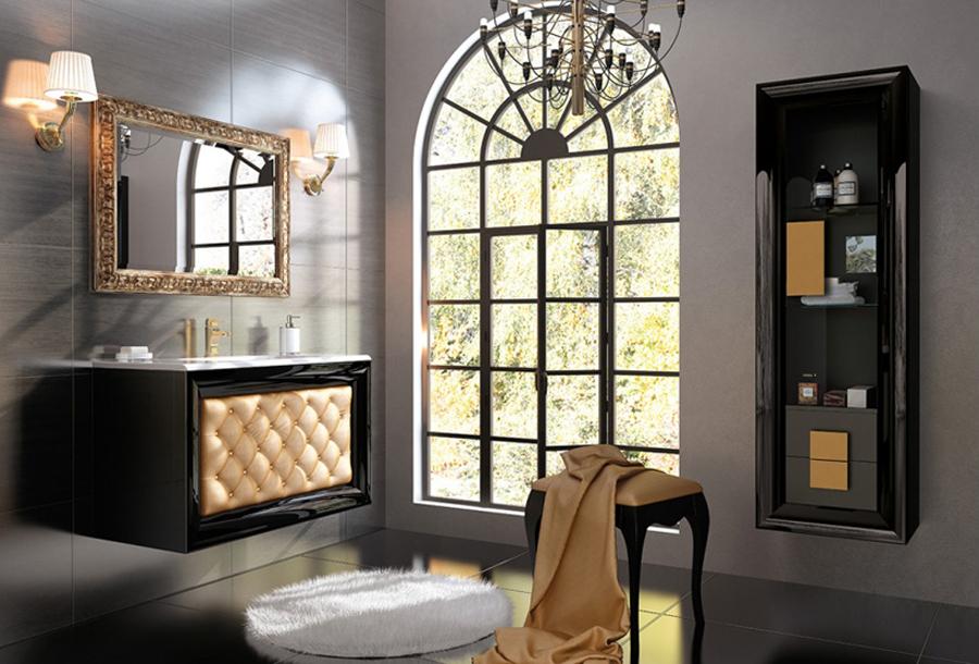 Muebles para baño Capitone 1 - Composicion de muebles para baños Capitone 1, Coleccion de muebles de baño llena de alta calidad, diseño y relax.