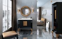 Muebles para baño Kora 1 - Composicion de muebles para baños Kora 1, Coleccion de muebles de baño llena de alta calidad, diseño y relax.