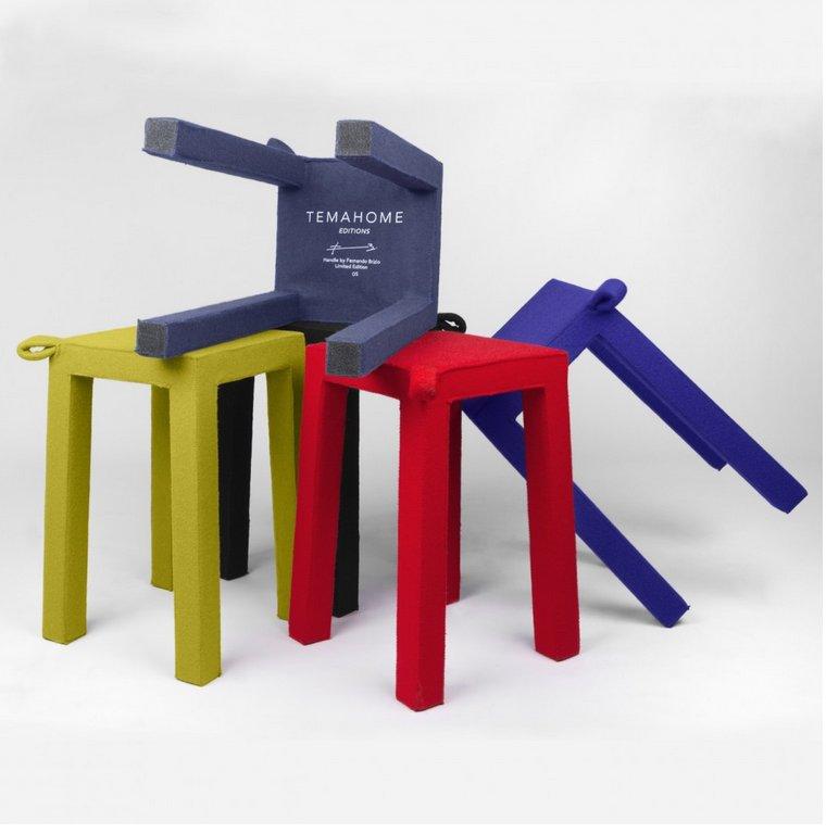Taburete tapizado muebles madrid muebles arganda - Muebles san sebastian de los reyes ...