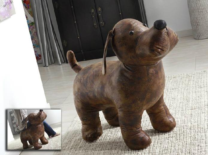 Taburete con forma de perro - Taburete con forma de perro marrón 2