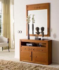Consola y espejo de chapa Cerezo 11 - Consola y espejo de chapa de Cerezo