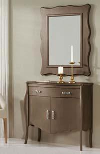 Consola y espejo de chapa Haya 10 - Consola y espejo de chapa de Haya