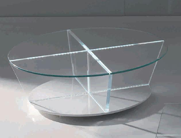 mesa de centro circular cristal alicante