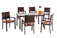Set de sillas y mesa modelo TAYTON - Set de sillones y mesa para exteriores modelo Tayton