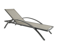 Tumbona aluminio y textileno de diseño  confort - Tumbona de diseño y confort