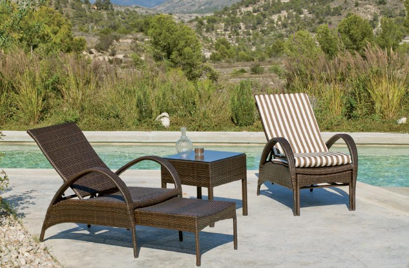 Tumbona extensible calpe alava for Sillon reclinable exterior