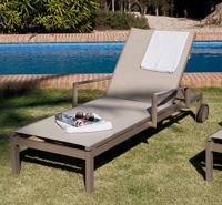 Cama de aluminio reforzada BRUC - Cama tumbona de aluminio para intemperie modelo BRUC.