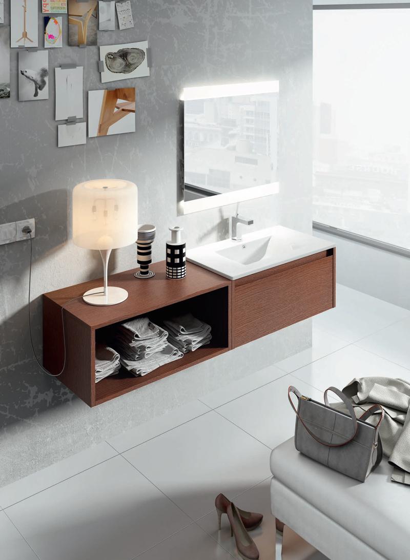 Muebles para baño Advance 5 - Composicion de muebles para baños Advance 5, Coleccion de muebles de baño llena de diseño y relax.