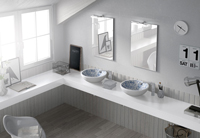 Muebles para baño Aurora 4 - Composicion de muebles para baños Aurora 4, Coleccion de muebles de baño llena de diseño y relax.