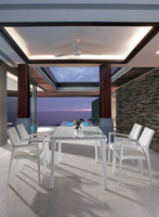 Mesa comedor Livorno o silla Benevento para exteriores  - Mesa comedor Livorno o silla Benevento para exteriores , estructura aluminio y Ratán
