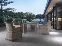 Mesa comedor o silla para exteriores Lura  - Mesa comedor o silla para exteriores Lura, estructura aluminio y ratán