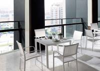 Mesa comedor o silla para exteriores Ribet - Mesa comedor o silla para exteriores Ribet, estructura aluminio y textiline
