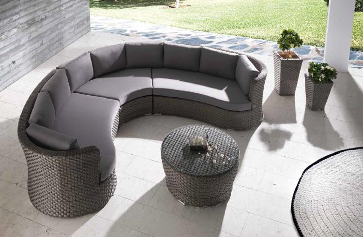 Juego de muebles para exteriores Lura Arco - Juego de muebles para exteriores Lura Arco, estructura aluminio