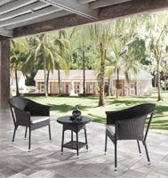 Mesa o sillón Saurón para exteriores  - Mesa o sillón Saurón para exteriores, estructura aluminio y Ratán