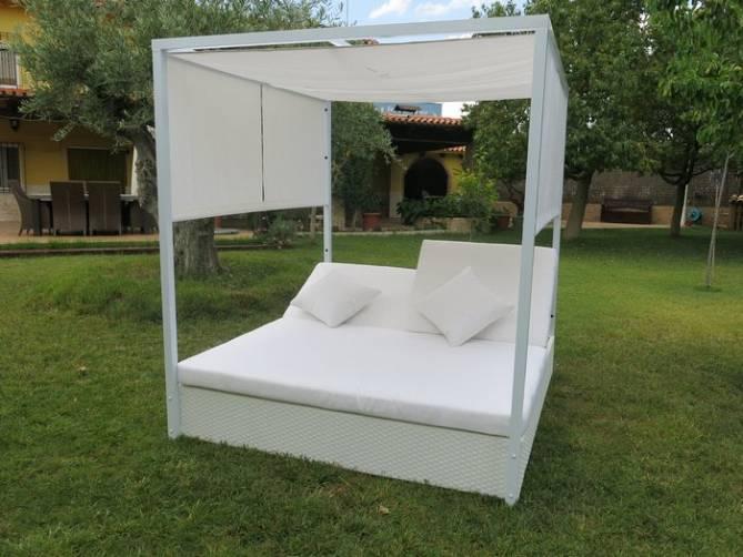 Cama balinesa estructura aluminio for Cama balinesa jardin