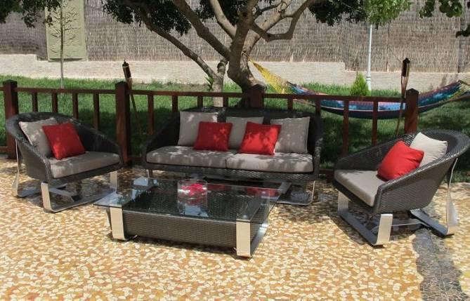 Juego de muebles para exteriores - Juego de muebles para exteriores, estructura aluminio