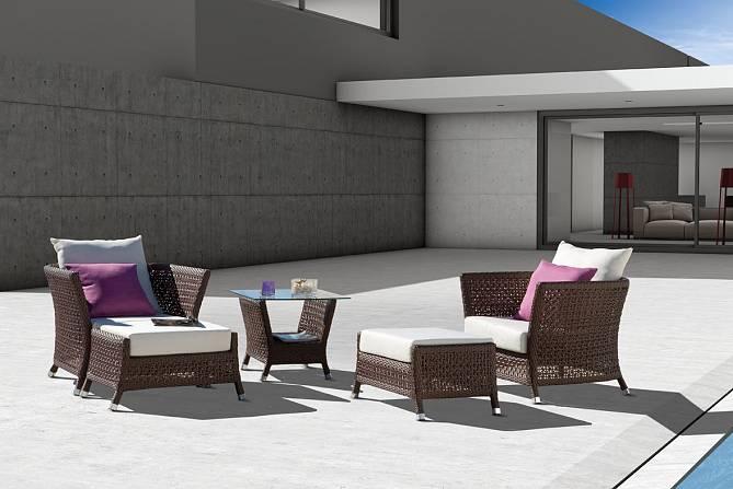 Juego de sillones y mesita de centro para exteriores Makani - Juego de sillones y mesita de centro para exteriores Makani