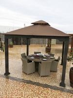 Gacebo de jardín - Carpa fija estructura aluminio