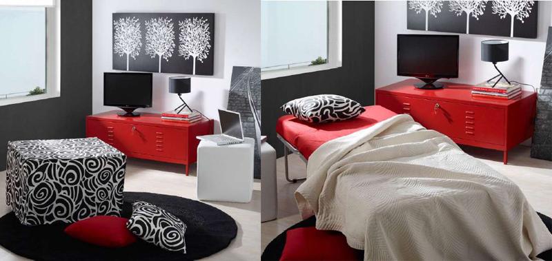 Puff convertible en cama pr ctico e innovador - Puff convertible en cama ...