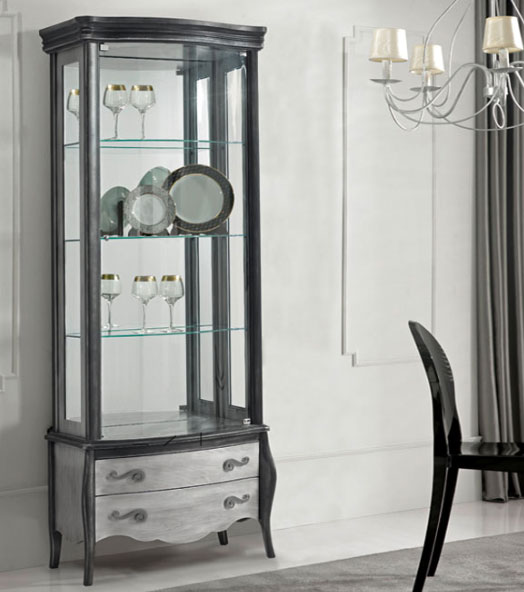 Vitrinas con puertas de cristal y cajones