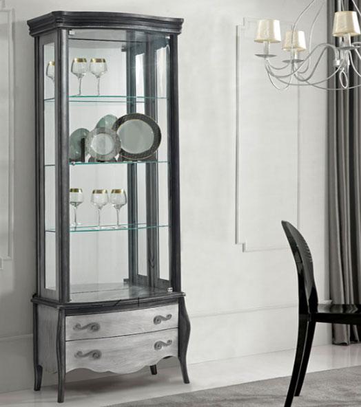 Vitrinas madera haya puertas cristal 2 metros baratas for Fotos de librerias de salon