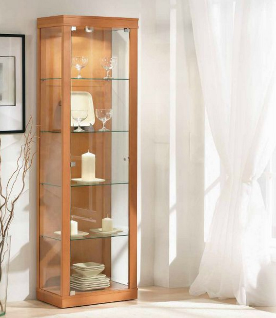 Vitrinas showcases con hal genos focos luces madrid - Imagenes de vitrinas de madera ...