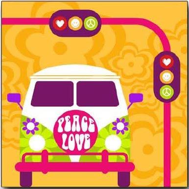 Cuadro Pop Art Peace - Cuadro impreso