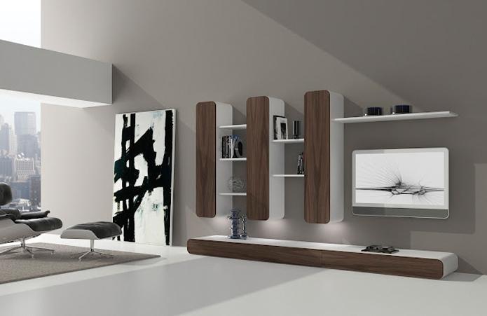 muebles salon modulo colgantes verticales oferta baratos leon ponferrada