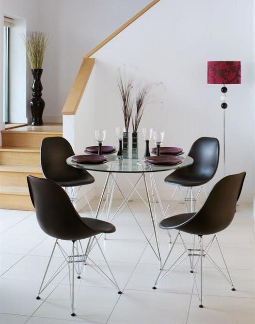 Mesa redonda de cristal - Mesas redondas cristal comedor ...