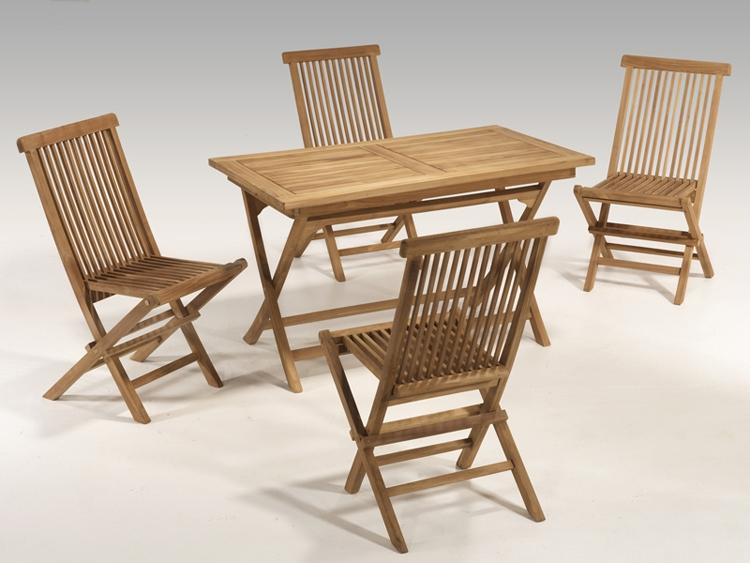 Juego de comedor para exteriores de teka 1 mesa 4 sillas - Sillas para exteriores ...